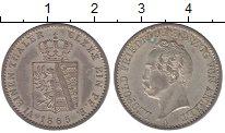 Изображение Монеты Анхальт-Дессау 1/6 талера 1865 Серебро XF+ Леопольд Фридрих