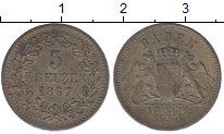 Изображение Монеты Баден 3 крейцера 1867 Серебро UNC-