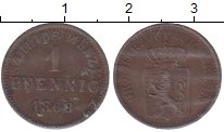 Изображение Монеты Гессен-Дармштадт 1 пфенниг 1868 Медь XF+