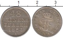 Изображение Монеты Мекленбург-Шверин 1/48 талера 1864 Серебро UNC- Фридрих Франц II