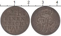 Изображение Монеты Пруссия 1/24 талера 1755 Серебро XF