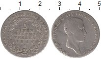 Изображение Монеты Пруссия 1/6 талера 1816 Серебро XF
