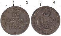 Изображение Монеты Саксония 1/12 талера 1823 Серебро XF+