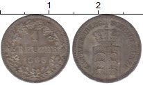 Изображение Монеты Вюртемберг 1 крейцер 1863 Серебро XF+