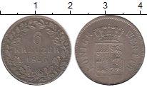 Изображение Монеты Вюртемберг 3 крейцера 1845 Серебро UNC-