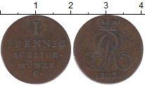 Изображение Монеты Ганновер 1 пфенниг 1823 Медь XF Георг IV
