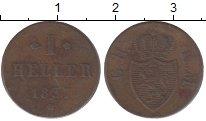 Изображение Монеты Гессен-Дармштадт 1 геллер 1837 Медь XF-