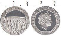 Изображение Монеты Великобритания 20 пенсов 2008 Серебро Proof- Елизавета II