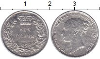 Изображение Монеты Великобритания 6 пенсов 1873 Серебро VF