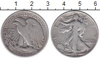 Изображение Монеты США 1/2 доллара 1943 Серебро XF-