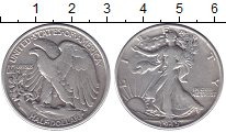 Изображение Монеты США 1/2 доллара 1945 Серебро XF-