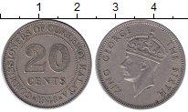 Изображение Монеты Малайя 20 центов 1948 Медно-никель XF