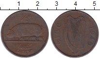 Изображение Монеты Ирландия 1/2 пенни 1949 Бронза XF