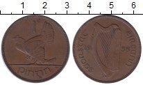 Изображение Монеты Ирландия 1 пенни 1935 Бронза XF Курица  с  цыплятами