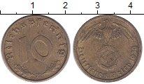 Изображение Монеты Третий Рейх 10 пфеннигов 1939 Латунь XF E