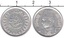 Изображение Монеты Египет 2 пиастра 1938 Серебро XF+ Фарук