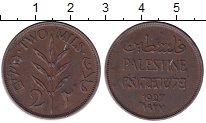Изображение Монеты Палестина 2 милса 1927 Бронза XF