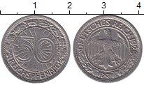 Изображение Монеты Веймарская республика 50 пфеннигов 1928 Медно-никель XF
