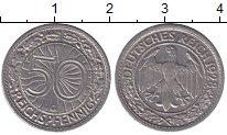 Изображение Монеты Веймарская республика 50 пфеннигов 1928 Медно-никель XF C