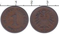 Изображение Монеты Германия 1 пфенниг 1885 Медь XF-