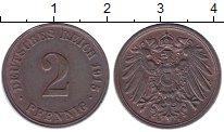 Изображение Монеты Третий Рейх 2 пфеннига 1915 Бронза XF+