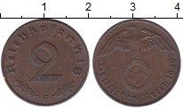 Изображение Монеты Германия Третий Рейх 2 пфеннига 1940 Бронза XF