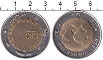 Изображение Монеты Швейцария 5 франков 1999 Биметалл UNC-