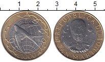 Изображение Монеты Сан-Марино 1000 лир 2000 Биметалл UNC-