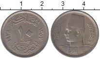 Изображение Монеты Египет 10 миллим 1938 Медно-никель XF