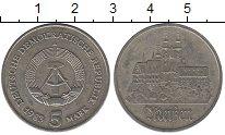 Изображение Монеты ГДР 5 марок 1983 Медно-никель UNC Мейсен (Редкий год)