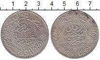 Изображение Монеты Марокко 1 риал 1912 Серебро XF+