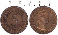 Изображение Монеты Маврикий 5 центов 1971 Бронза XF