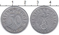 Изображение Монеты Третий Рейх 50 пфеннигов 1941 Алюминий XF