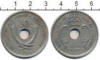 Изображение Монеты Восточная Африка 10 центов 1911 Медно-никель XF