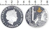 Изображение Монеты Австралия 1 доллар 2011 Серебро Proof Частичная  позолота.