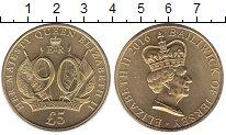 Изображение Монеты Остров Джерси 5 фунтов 2016 Латунь UNC-