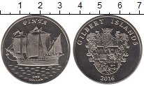 Изображение Мелочь Кирибати 1 доллар 2016 Медно-никель UNC Острова  Гилберта.
