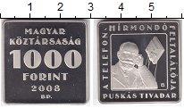 Изображение Мелочь Венгрия 1.000 форинтов 2008 Медно-никель Proof Тивадар  Пушкаш