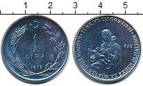 Изображение Монеты Турция 1 лира 1978 Сталь UNC-