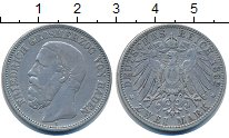 Изображение Монеты Германия Баден 2 марки 1892 Серебро VF