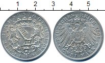 Изображение Монеты Бремен 2 марки 1904 Серебро UNC- Герб