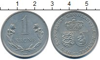 Изображение Монеты Дания Гренландия 1 крона 1964 Медно-никель XF