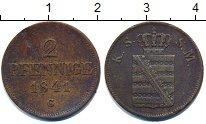 Изображение Монеты Саксония 2 пфеннига 1841 Медь VF