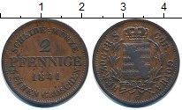Изображение Монеты Германия Саксе-Кобург-Гота 2 пфеннига 1841 Медь XF