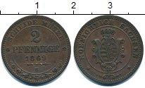 Изображение Монеты Германия Саксония 2 пфеннига 1869 Медь XF