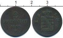 Изображение Монеты Саксония 2 пфеннига 1859 Медь XF
