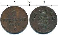Изображение Монеты Германия Саксония 2 пфеннига 1859 Медь XF