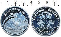 Изображение Монеты Того 1000 франков 2007 Серебро Proof Олимпиада 2008