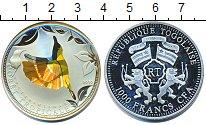 Изображение Монеты Того 1000 франков 2010 Серебро Proof