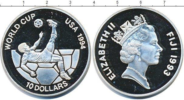 Серебряные монеты фиджи acanthurus glaucopareius